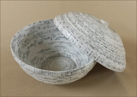 Recycled Paper Bowl, by Judie-Collier