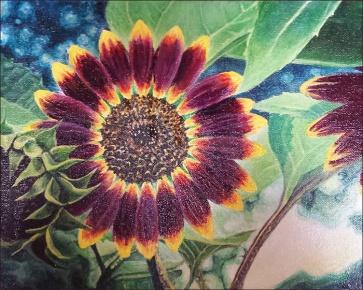 October 2016 Winner, Purple, Orange, Black by Krissy Richardson
